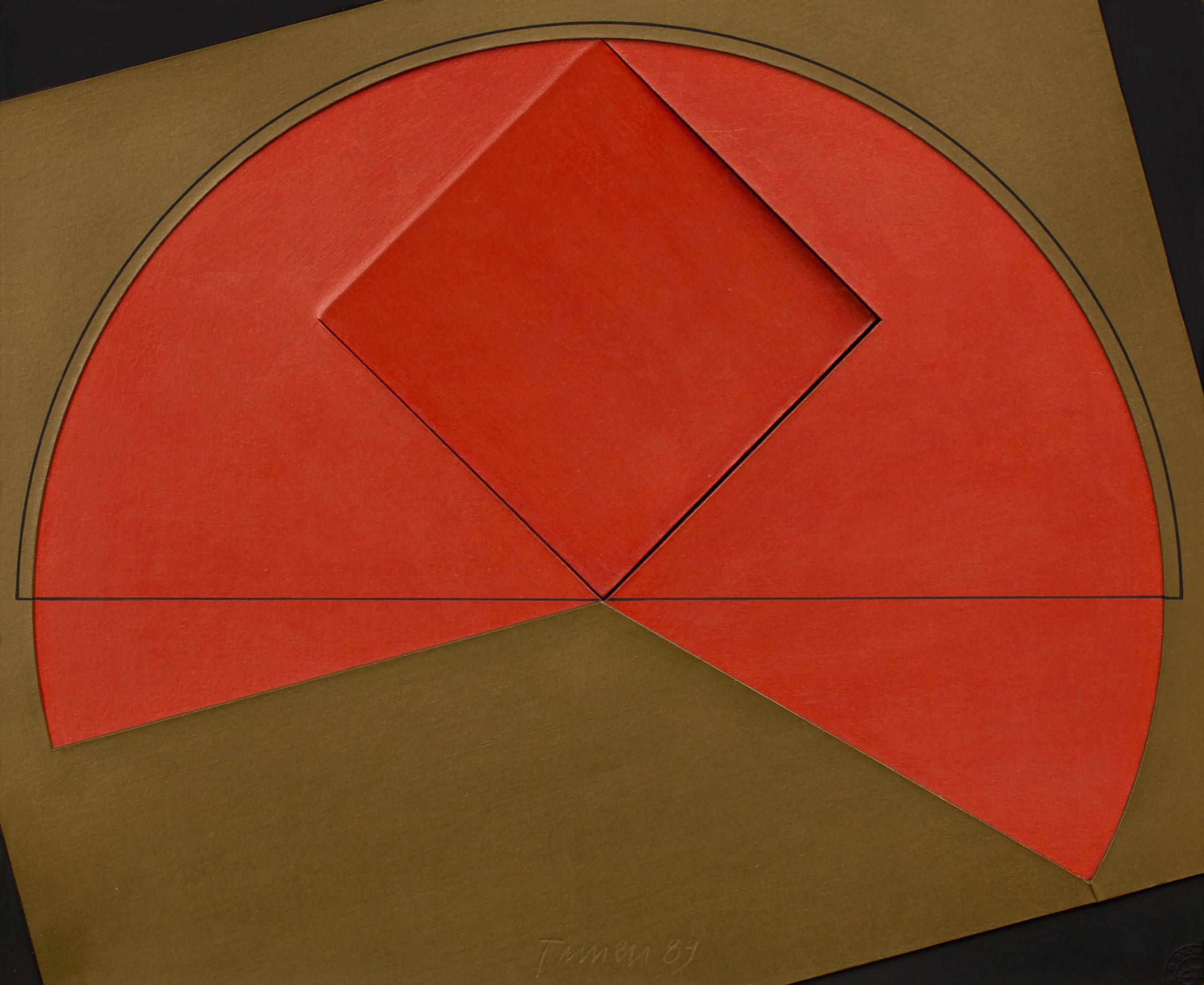 Acrilica sobre papel-cartão de Tuneu